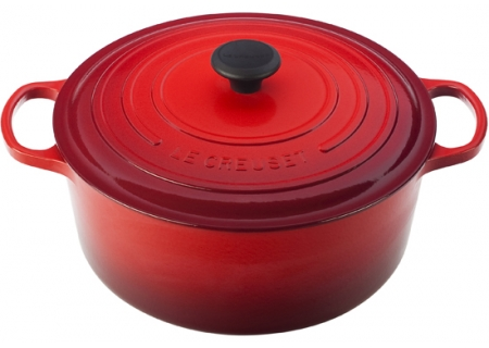 Le Creuset Signature Enameled Cast-Iron 9-Quart Cerise Round Dutch Oven - LS25013067