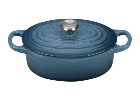 Le Creuset Signature 6.75 Quart Marine Oval Dutch Oven - LS2502316MSS