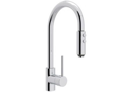 Rohl Polished Chrome Modern Architectural Side Lever Pull Down Faucet - LS-59L-APC-2