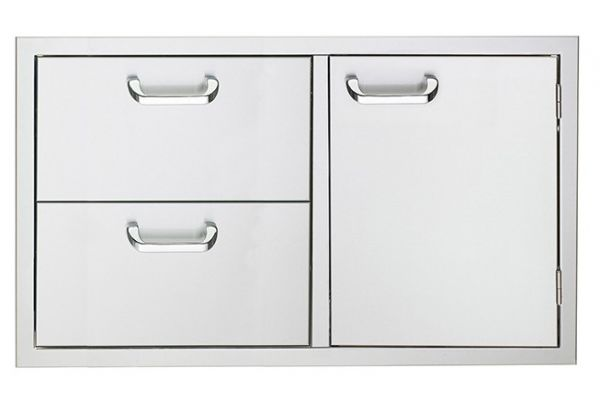 "Lynx Sedona 36"" Stainless Steel Double Drawer and Door Combo - LSA636"