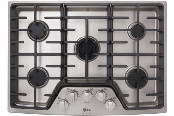 """Large image of LG STUDIO 30"""" Stainless Steel Gas Cooktop - LSCG307ST"""