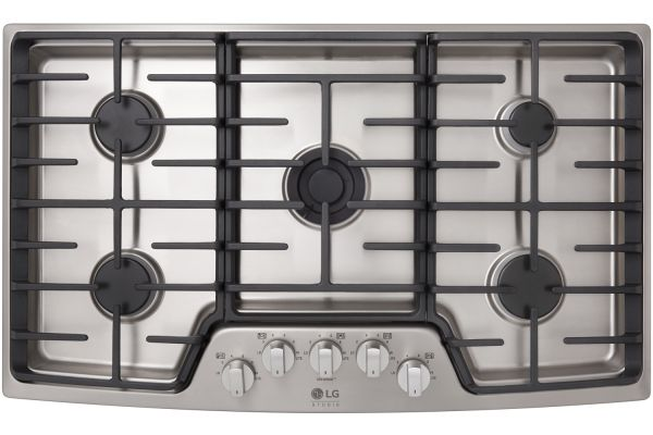 "LG STUDIO 36"" Stainless Steel Gas Cooktop - LSCG367ST"