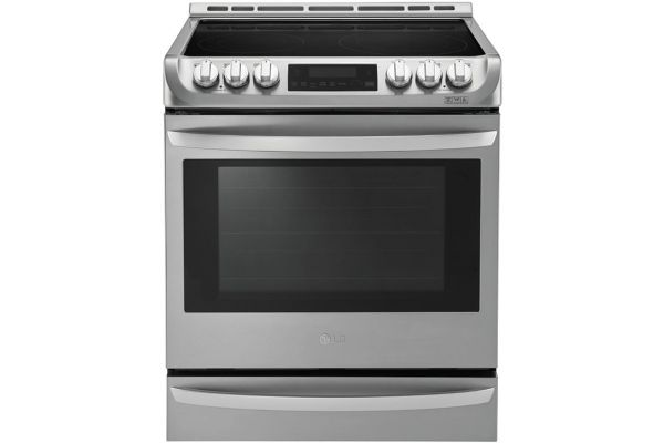 Large image of LG 6.3 Cu. Ft. Stainless Steel Electric Single Oven Slide-In Range With ProBake Convection And EasyClean - LSE4613ST