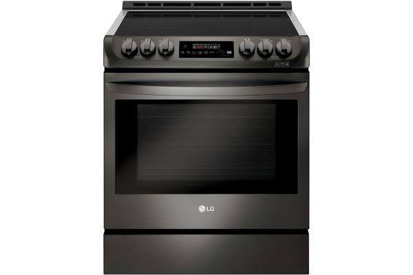 Large image of LG Black Stainless Steel Slide-In Induction Range - LSE4616BD