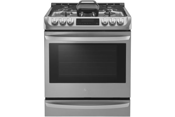 LG 6.3 Cu. Ft. Stainless Steel Gas Single Oven Slide-In Range With ProBake Convection And EasyClean - LSG4513ST