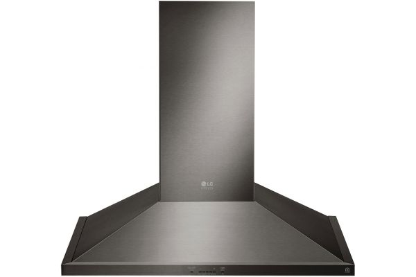 "LG STUDIO 30"" Black Stainless Steel Wall Mount Range Hood - LSHD3089BD"