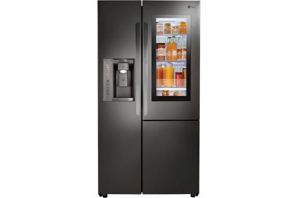 LG Black Stainless Steel Counter Depth InstaView Door-In-Door Side-By-Side Refrigerator - LSXC22396D