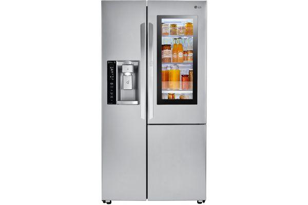 Large image of LG 22 Cu. Ft. Stainless Steel Smart Wi-Fi Enabled InstaView Door-In-Door Counter-Depth Refrigerator - LSXC22396S