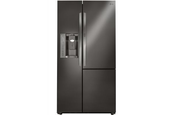 LG Black Stainless Steel Side-By-Side Counter Depth Refrigerator - LSXC22486D