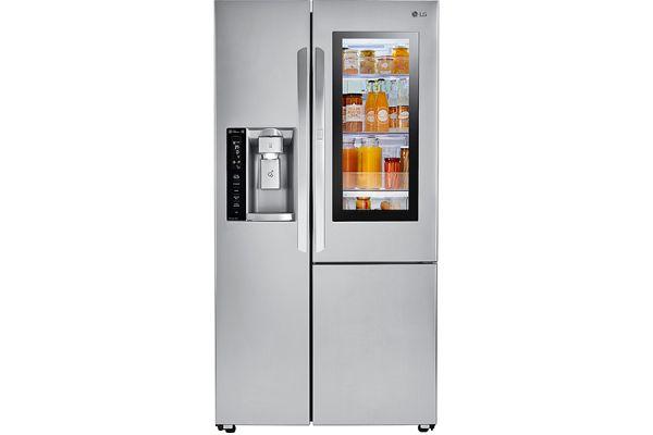 LG Stainless Steel InstaView Door-In-Door Side-By-Side Refrigerator - LSXS26396S
