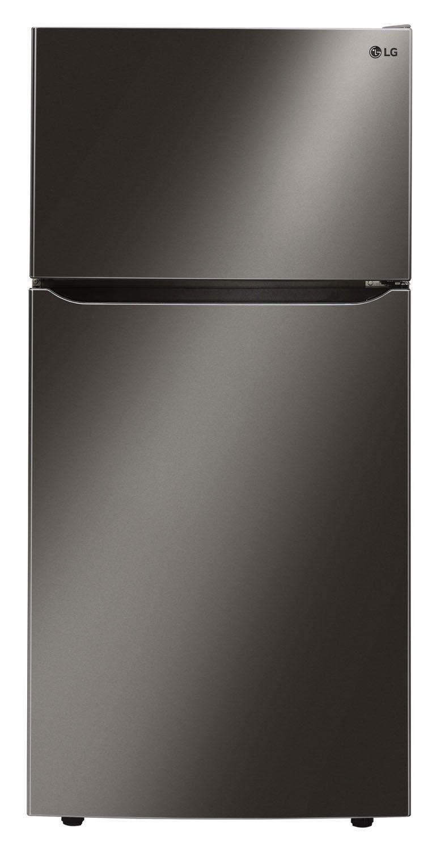 LG Black Stainless Top Freezer Refrigerator LTCS24223D