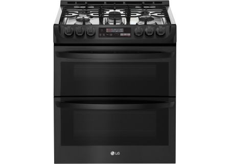 LG Black Slide-In Double Gas Convection Range - LTG4715BM