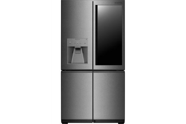 LG SIGNATURE Textured Stainless Steel InstaView Door-In-Door French Door Refrigerator - LUPXC2386N