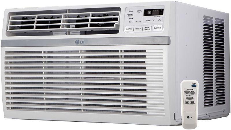 lg 8 000 btu 115v window air conditioner lw8016er. Black Bedroom Furniture Sets. Home Design Ideas