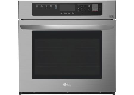 "LG 30"" Black Stainless Steel Single Wall Oven - LWS3063BD"
