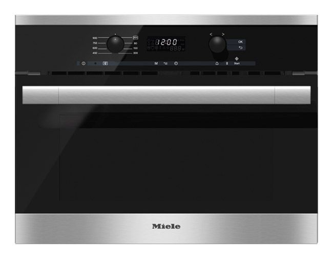 Miele 24 Contourline Stainless Steel Built In Microwave Oven M6160tc