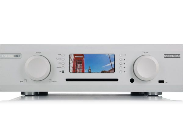 Large image of Musical Fidelity M6 Encore Connect Silver Streaming Music System w/ CD Player - MUFIENCCONSL