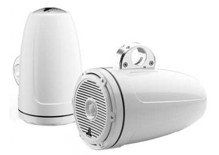 """JL Audio M-Series 8.8"""" White Enclosed Tower Coaxial System - 91380"""