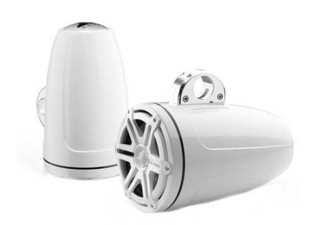 """JL Audio M-Series 8.8"""" White Enclosed Tower Coaxial System  - 91381"""