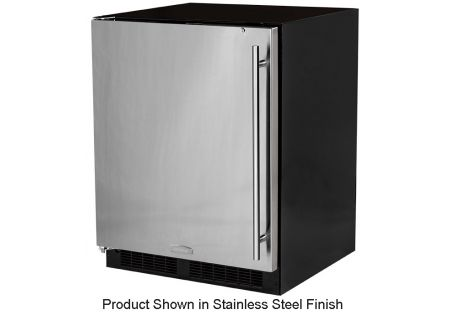"Marvel 24"" Black Undercounter Compact Refrigerator  - MA24RAS2LB"