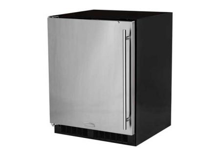 "Marvel 24"" Low Profile Stainless Steel Undercounter Compact Refrigerator  - MA24RAS2LS"