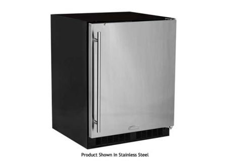 "Marvel 5.4 Cu.Ft. 24"" Low Profile Black Undercounter Refrigerator - MA24RAS2RB"
