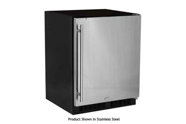 "Marvel 24"" Low Profile Black Undercounter Refrigerator - MA24RAS2RB"