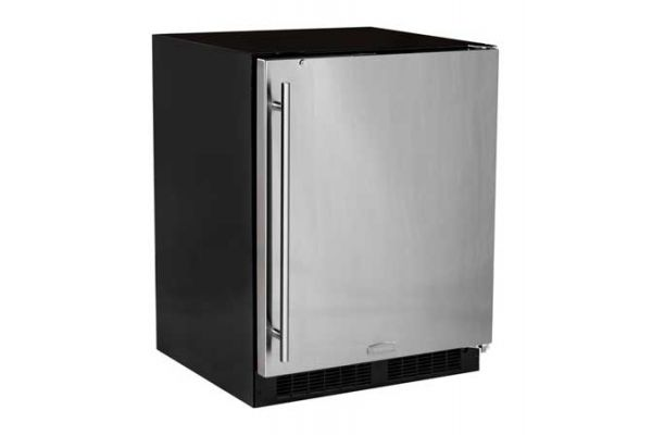 """Marvel 24"""" Low Profile Stainless Steel Undercounter Compact Refrigerator - MA24RAS2RS"""
