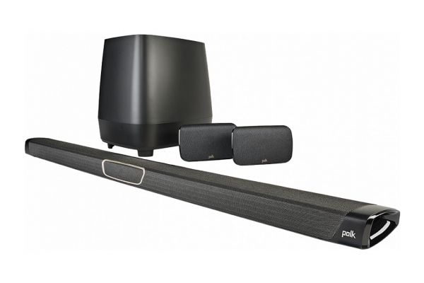 Large image of Polk Audio Black MagniFi MAX SR 5.1 Home Theater Sound Bar System - AM8414