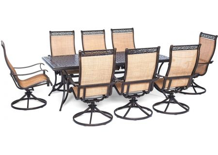 Hanover 9-Piece Manor Dining Patio Set - MANDN9PCSW-8