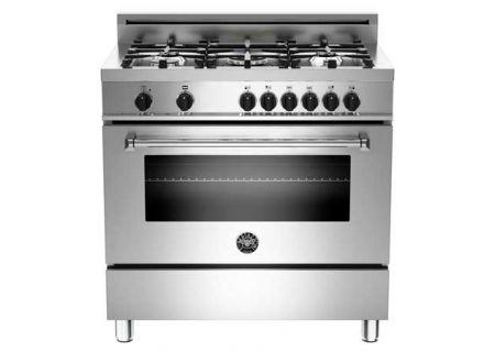 "Bertazzoni Master Series 36"" Stainless Steel Dual Fuel Range - MAS365DFMXE"