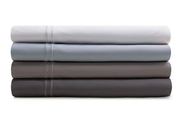 Large image of Malouf Woven Smoke King Supima Premium Cotton Pillowcases - MAS6KKSMPC