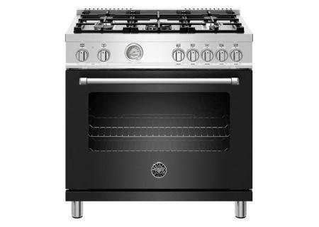"Bertazzoni Master Series 36"" Black Dual Fuel Range - MAST365DFMNEE"