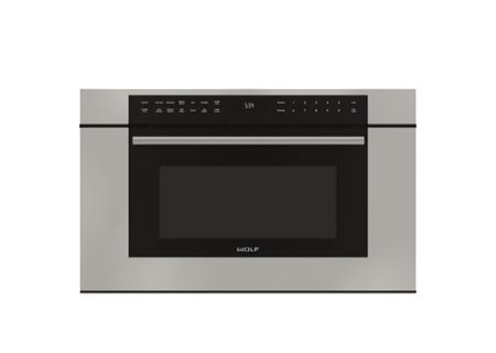 "Wolf 30"" Stainless Steel M Series Transitional Dropdown Door Microwave Oven  - MDD30TMSTH"