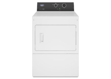 "Maytag 27"" White Commercial Electric Dryer - MDE20MNAYW"