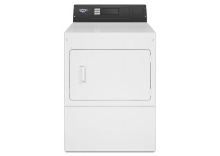 "Maytag 27"" White Commercial Electric Dryer - MDE20PRAYW"
