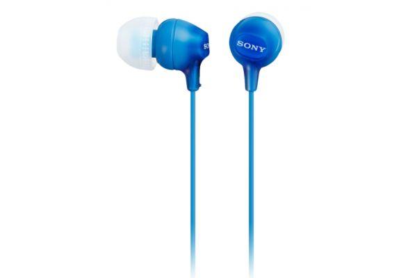 Large image of Sony Blue Fashion Color EX Earbud Headphones  - MDREX15AP/L