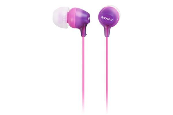 Large image of Sony Violet Fashion Color EX Earbud Headphones  - MDREX15AP/V