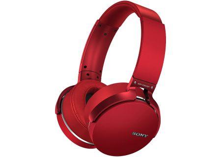 Sony - MDR-XB950BT/R - Over-Ear Headphones