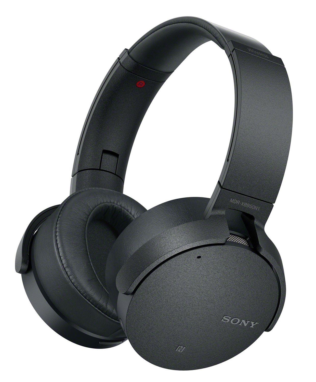 92766701daf Sony Black Noise-Canceling Extra Bass Wireless Over-Ear Headphones -  MDRXB950N1/B