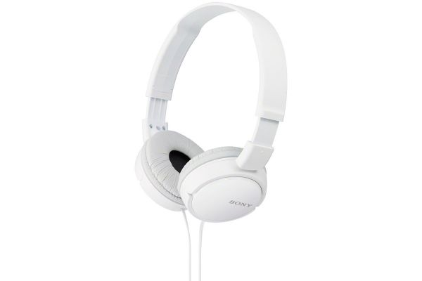 Large image of Sony White On-Ear Stereo Headphones - MDRZX110/W