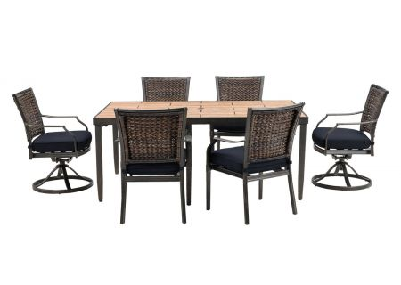 Hanover - MERCDN7PCSW-NVY - Patio Dining Sets