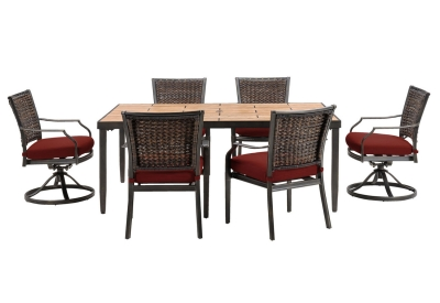 Hanover - MERCDN7PCSW-RED - Patio Furniture