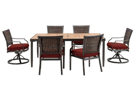 Hanover - MERCDN7PCSW-RED - Patio Dining Sets