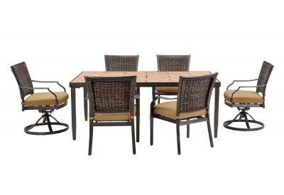 Hanover - MERCDN7PCSW-TAN - Patio Furniture