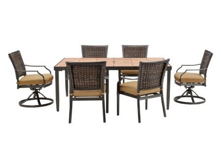 Hanover - MERCDN7PCSW-TAN - Patio Dining Sets