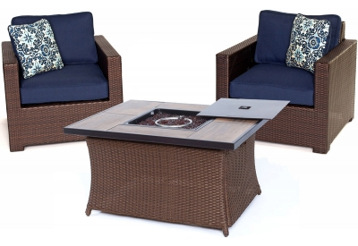 Hanover - MET3PCFP-NVY-A - Patio Furniture