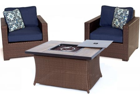 Hanover - MET3PCFP-NVY-A - Patio Seating Sets