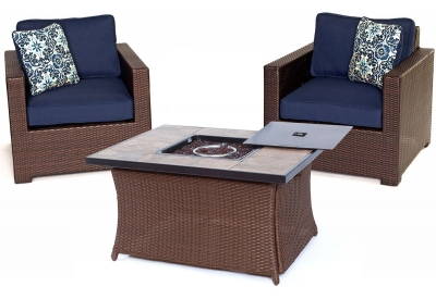 Hanover - MET3PCFP-NVY-B - Patio Seating Sets