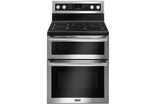 """Large image of Maytag 30"""" Stainless Steel Double Oven Electric Range - MET8800FZ"""